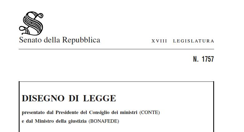 CONVERSIONE IN LEGGE DEL DECRETO-LEGGE 8 MARZO 2020, N.11, RELAZIONE ILLUSTRATIVA E DISEGNO DI LEGGE