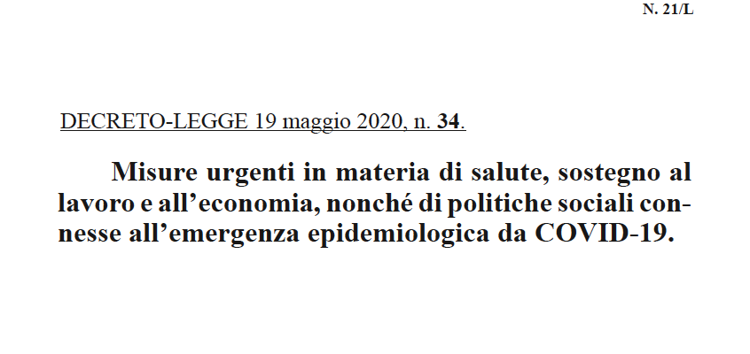 """""""DECRETO RILANCIO"""": LE NOVITÀ IN MATERIA DI GIUSTIZIA."""