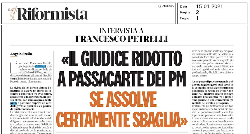 INTERVISTA AL DIRETTORE FRANCESCO PETRELLI