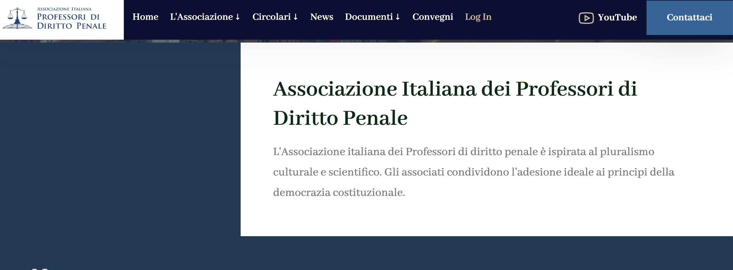 ASSOCIAZIONE ITALIANA DEI PROFESSORI DI DIRITTO PENALE: COMUNICATO SUI FATTI DI SANTA MARIA CAPUA VETERE